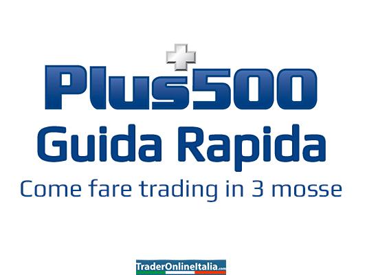 Guida rapida Plus500 come fare trading in 3 mosse