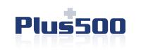 Logo di Plus500, broker cfd trading