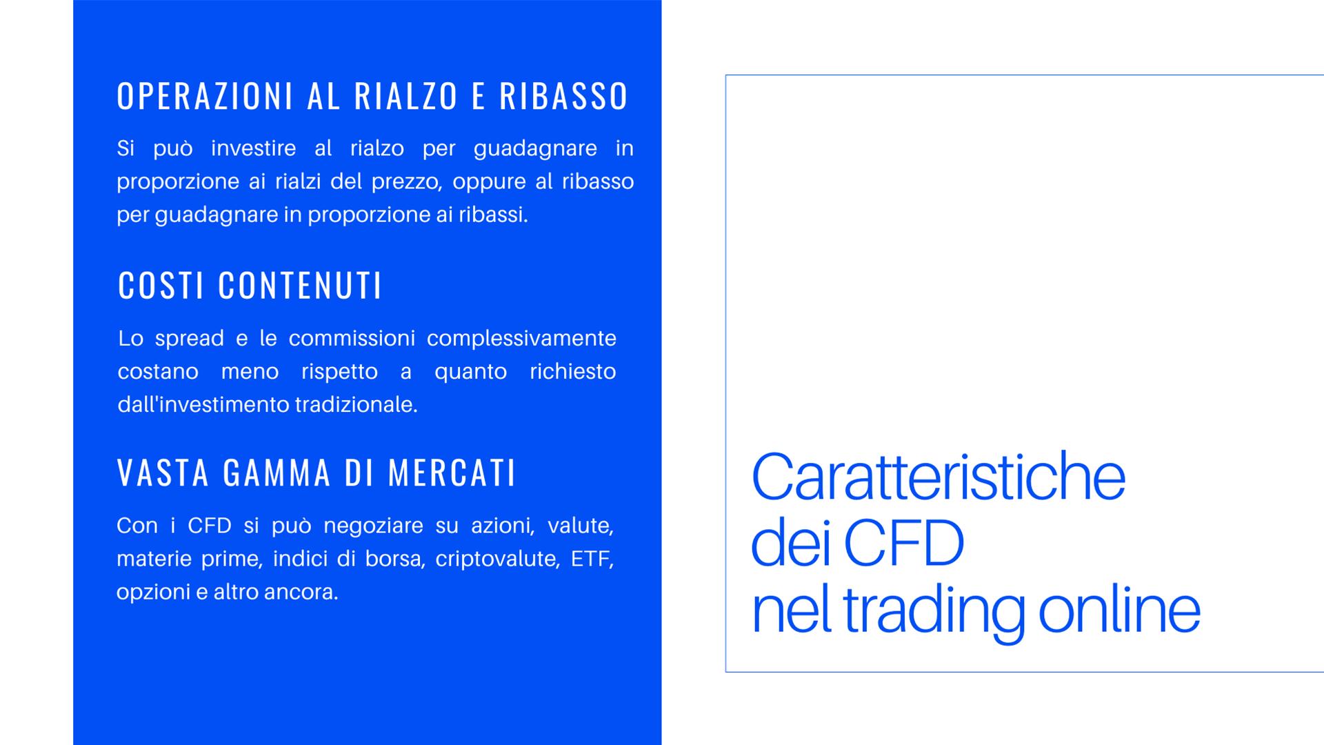 Quali sono le caratteristiche dei CFD nel trading online